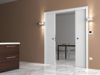 Puertas correderas exposici n puertas actur - Puerta corredera doble ...
