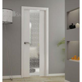 Puerta cristal templado y laminado tela