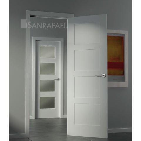 Puerta vidriera lacada