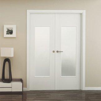 Puerta con cristal laminado y templado