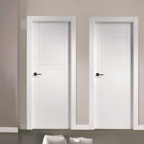 Puertas lacadas en zaragoza exposici n puertas actur for Puertas de paso blancas