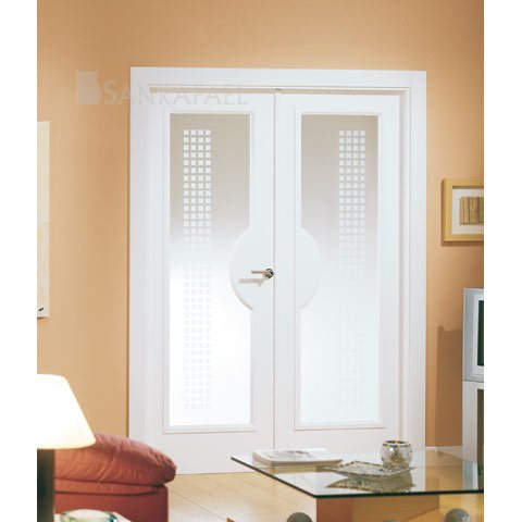 Puerta doble vidriera