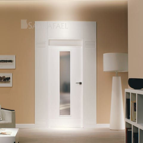 Puerta vidriera lacada - Moldura gran formato
