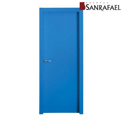 Puerta color azul