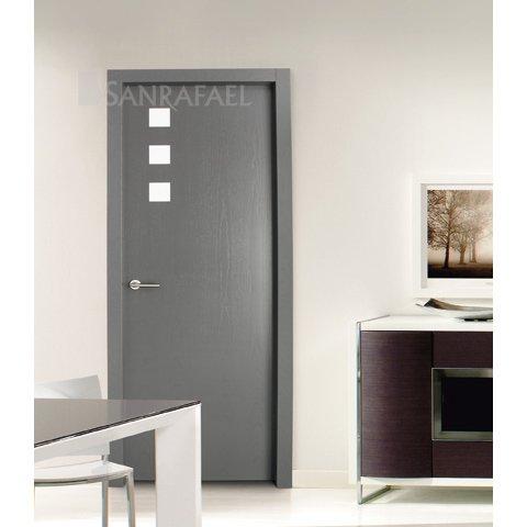 Puerta de diseño tintado gris frassino decoraciones lacadas