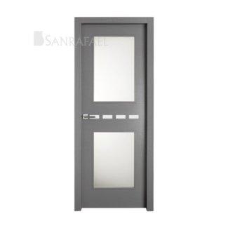 Puerta vidriera tintado gris frassino decoraciones lacadas