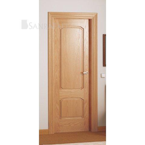 Puertas de madera en zaragoza exposici n puertas actur for Puerta madera roble