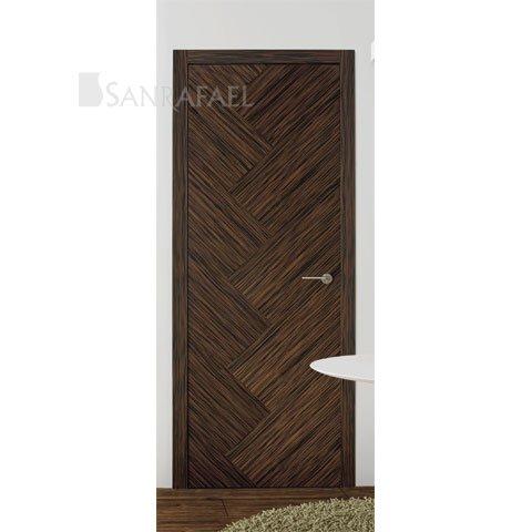 Puerta lisa en madera de ébano