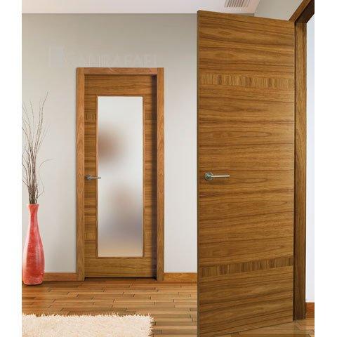 Puertas lisas en madera de etimoe