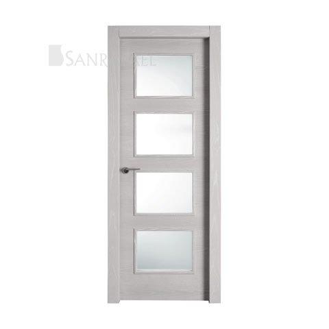 Puerta lisa vidriera
