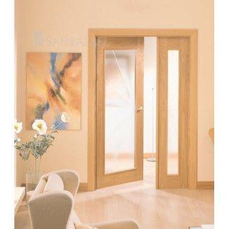 Puerta clásica en madera de roble