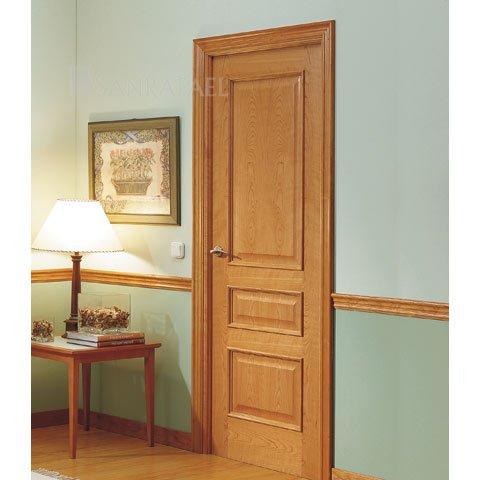 Puerta clásica en madera de cerezo