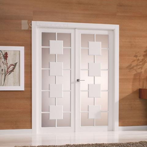 Especialistas en puertas lacadas exposici n puertas actur - Puertas lacadas en blanco roto ...