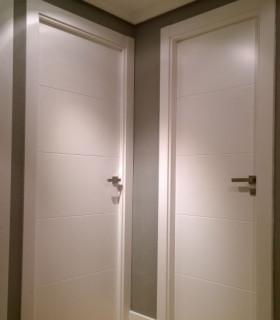 Puertas de Paso y Vidriera Lacadas