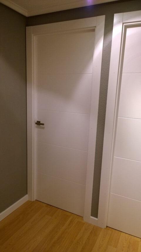 Puertas de paso y vidriera lacadas puertas actur - Puertas dm lacadas blanco ...